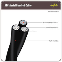 Aluminum core PE insulation aerial bunch cable triplex aerial twisted cable