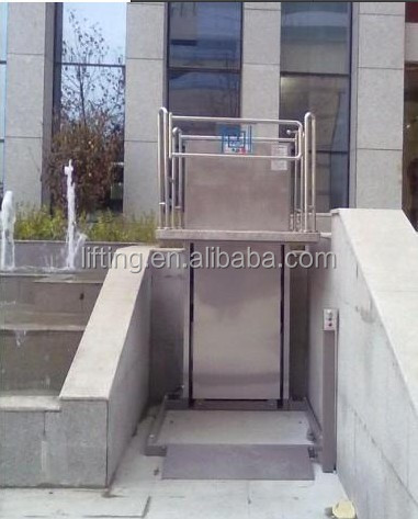 CE ISO Approved wheelchair hydraulic vertical platform lift/home platform disabled lift for handicapped