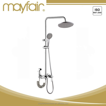 Chrome shower set w-mounted Bathtub Faucet shower water mixer