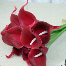 artificial wedding mini latex pu calla lily bunch