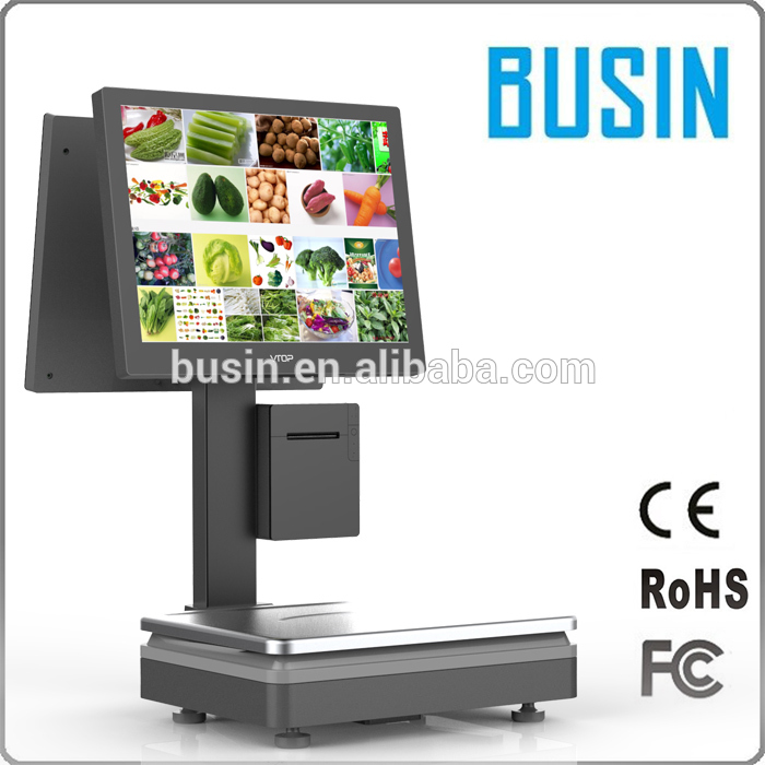 Best price 15kg touch screen pos computing digital weight market scale for butcher scales