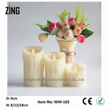 new design Artificial Candles with Real Flame for Home Decoration led light