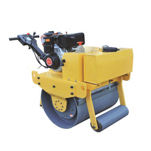 diesel engine powered vibrating walk-behind road roller,mini single drum roller