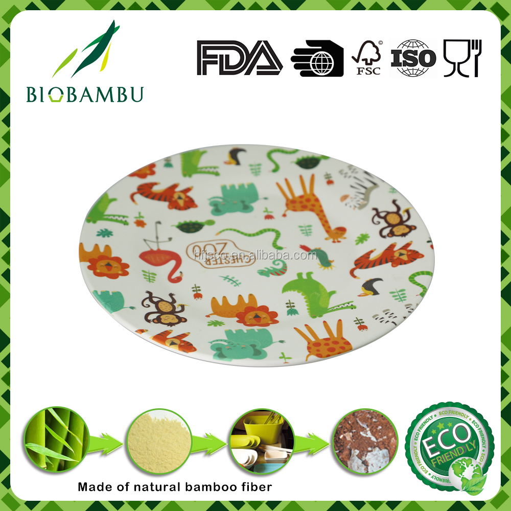 Customize pattern high definition bamboo fiber plate