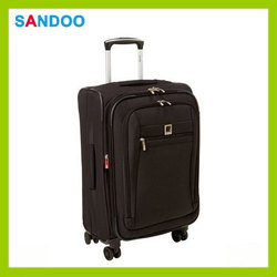 China new product high quality trolley luggage, black custom luggage trolley bags for 2016