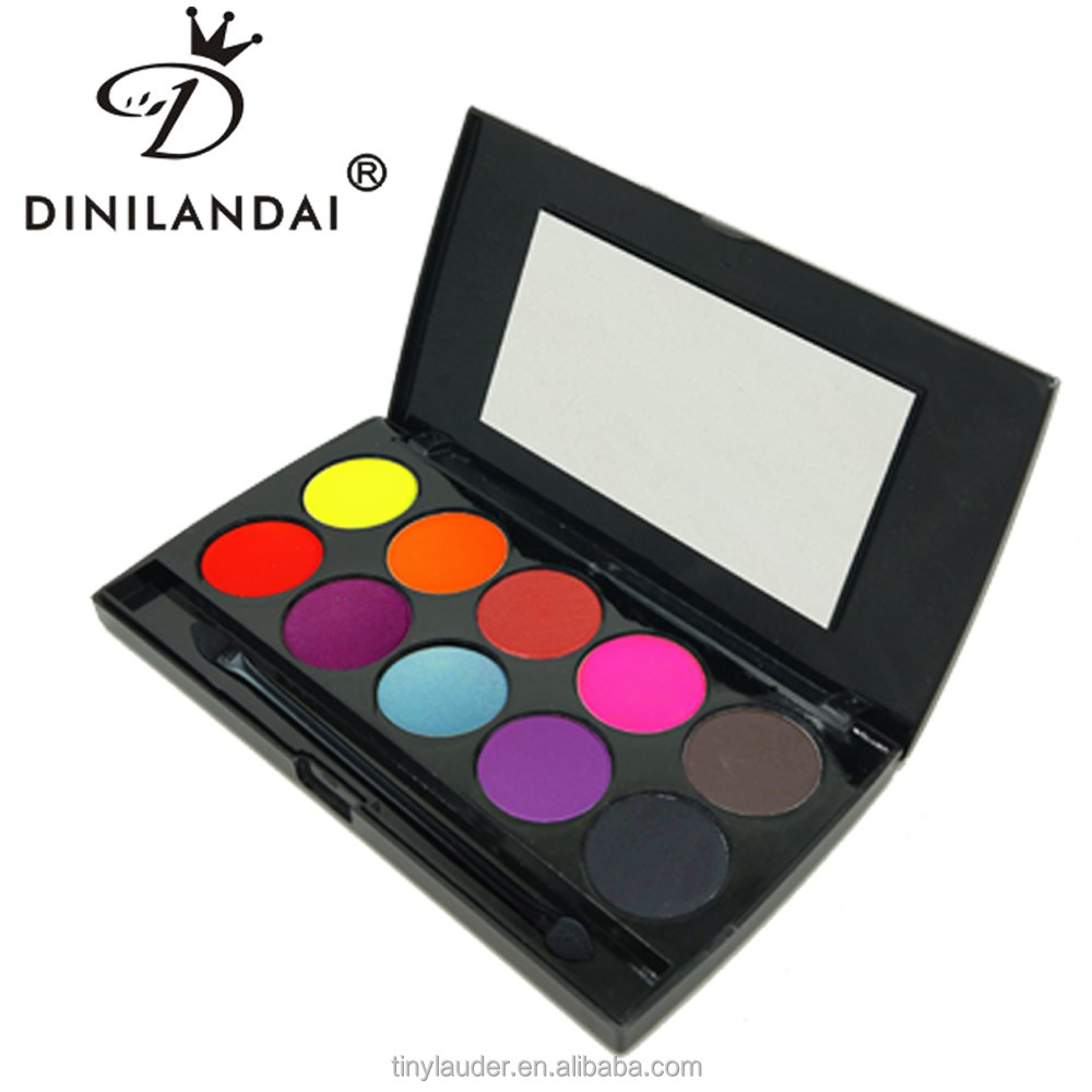Wholesale high pigmented single naked 10 color eyeshadow palette container