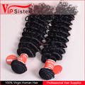 Popular style indian human hair, virgin human hair deep wave, deep curly unprocessed wave human hair weave