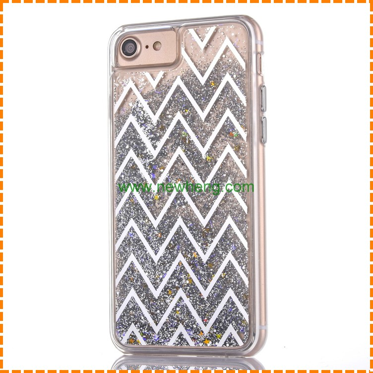 Hot selling shinny soft tpu bling back cover phone case for iphone 7 plus