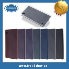 Ultra thin tpu phone silicone cover case for huawei ascend p7 mini