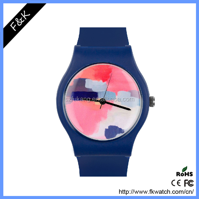 Hot sell Classic silicon watch women custom printed logo student quartz Wristwatch silicone bands watch