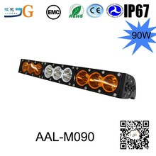 Hot sale 2017 white amber combo 10W led single row mixed color led light bar
