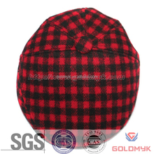 SGS certificate blank newsboy hat men with checker