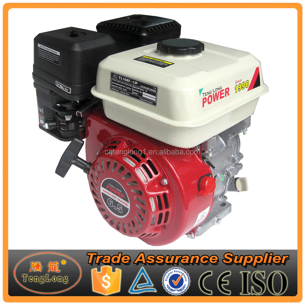 CE Certificated 6.5 HP 4 Stroke Small Electric Start Gasoline Engine