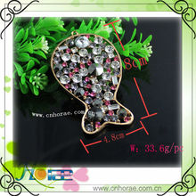 Pretty leaf shape alloy pendant charming for bag fittings
