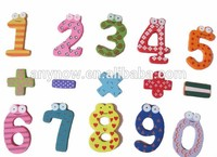 Fridge magnets large size baby toddler early learning number wooden toy