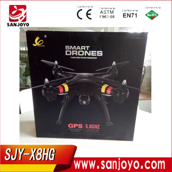 Hot sale SJY-X8HG 5.8G Screen FPV GPS rc drone with high lock function similar brushless motor low battery slow landing & return