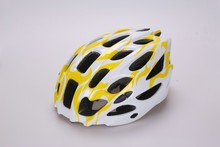 Colorful fashion PC in-mold road bike helmet with quality EPS shock absorb liner for adult