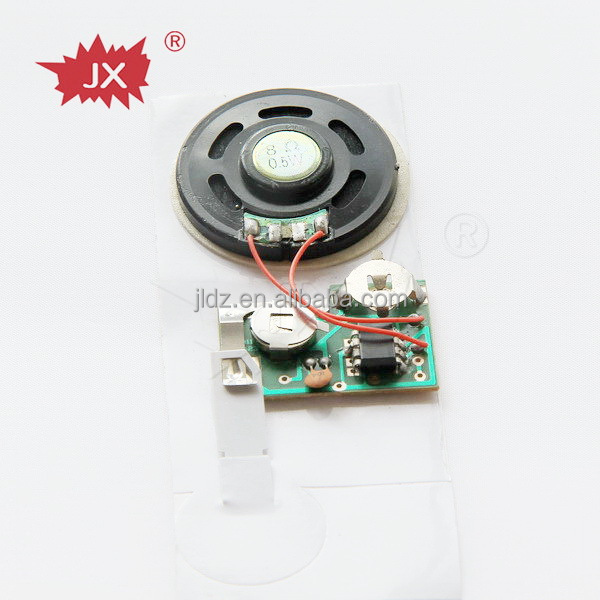 Mini plastic speaker programmable music card chip for greeting cards