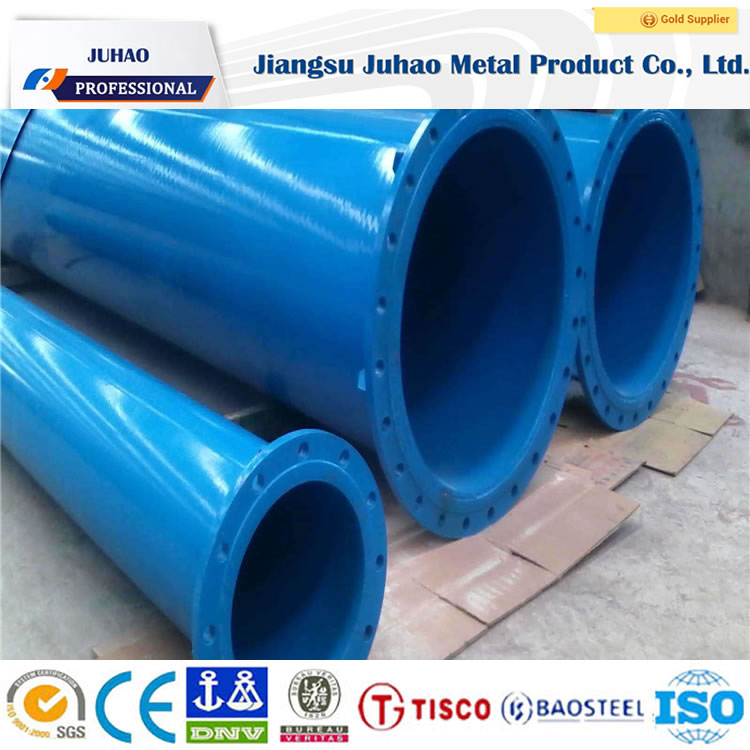 Zinc coating flanged galvanized steel pipe good quality