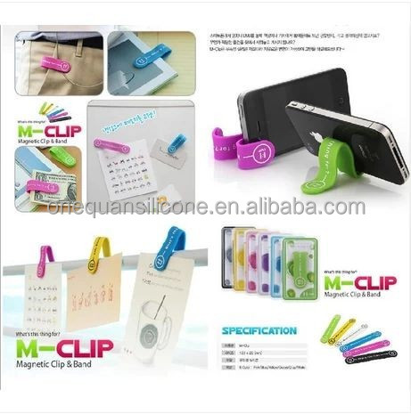 Hot Selling Silicone Smart Plastic Magnetic Clip /magnetic Phone Stand