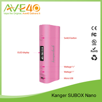 Ave40 100% high quality e cigarette Subox mini vs Subox nano 50w Kanger Product Box Mod Subox wholesale in stock Bell Cap