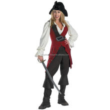 Pirates of the Caribbean Elizabeth pirate deluxe free adult movies cosplay costume AGC2434