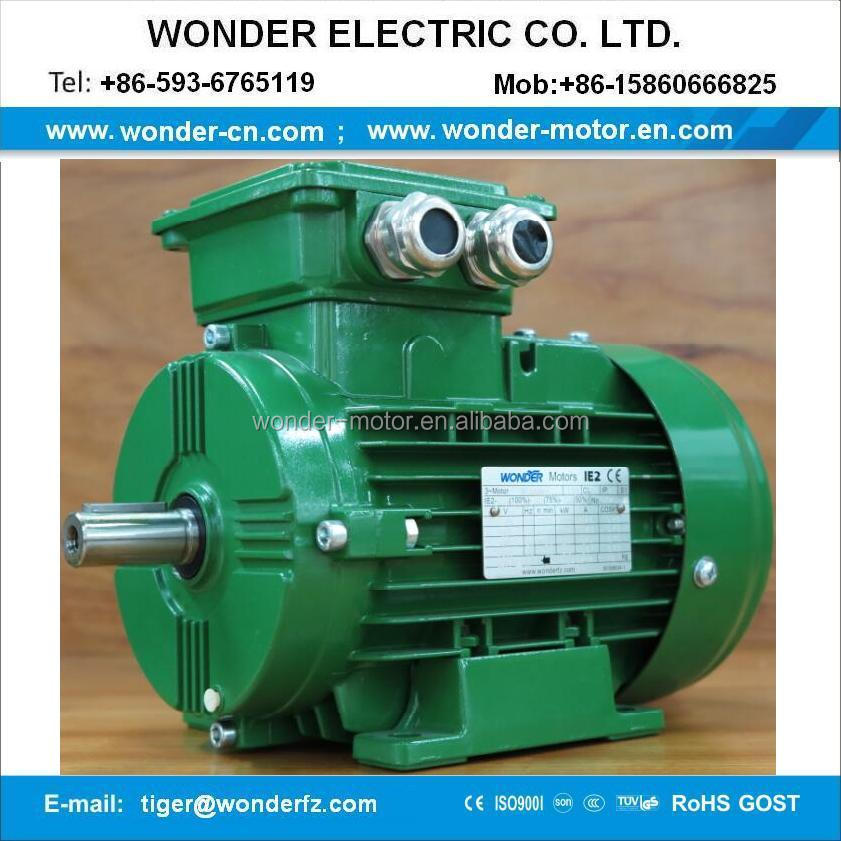 brake motor three phase IE2 series ac motor tefc electromagnetic braking motor