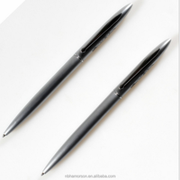 hotel metal pen/simple item metal twist pen,classic metal pen with customized logo/slim metal pen