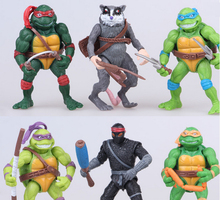 fashion 11.5 cm Ninja Turtles 6 pcs per set action figures PVC cartoon Ninja Turtles toys