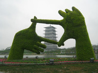 No.1 Green sculpture on sale simulation art sculpture on park artificial sculpture