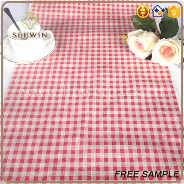 square linen table runner for home deco