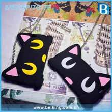 2017 Newest Rubber Cartoon Cat Shaped Silicon Case For iPhone 5 6 6Plus 7 7Plus