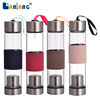 China supplier aqua filter glass water bottle