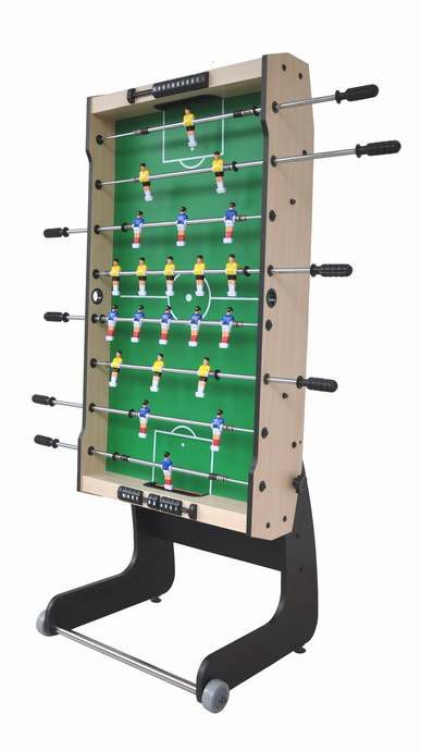 Single-foldable 4 feet Football Soccer Table with 2 wheels and 31mm soccer balls