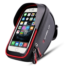 Bike phone mount bag, Wallfire Bicycle Frame Bike Handlebar Bags with Waterproof Touch Screen Phone Case
