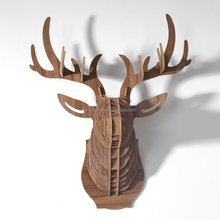 3D Art deco sculpture animal wooden home deco