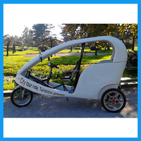 Electric advertising cabin tricycle with passenger seat