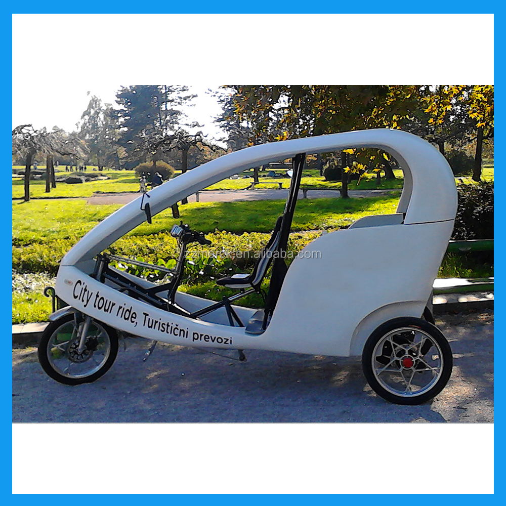 Electric advertising tricycle with passenger seat