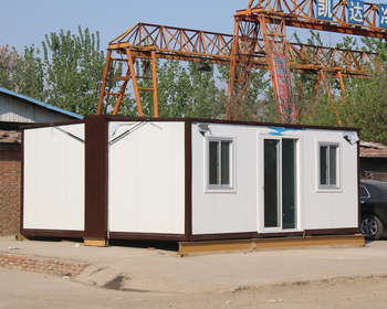 mobile steel structure prefab folding house container with 2 bedroom 1 kitchen for living