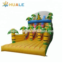 Popular coconut tree theme inflatable slide,inflatable bouncer slide for sale