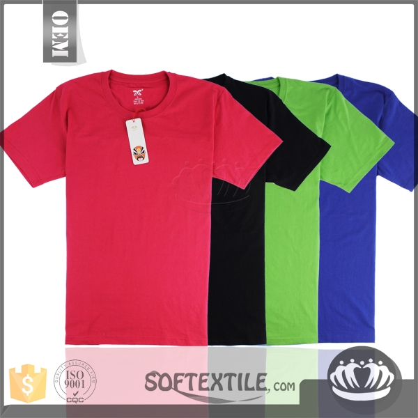 softextile Good quality fancy cheap high quality t shirts/men's overstock t-shirts with reasonable price