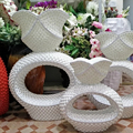 large mosaic wedding floor flower stand for event decoration , 62*22*80