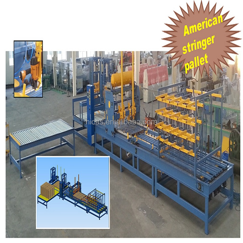 China wood pallet assembly machine Wood pallet nailing table