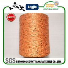 Oeko-Tex buying in bulk wholesale factory supply cotton yarn with paillettes hand knitting brushed sequins yarn