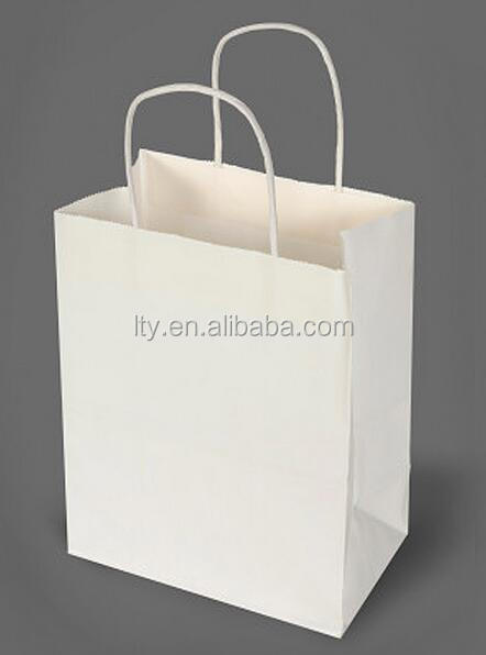 Shopping Bag Manufacture White Kraft Paper Carrier Bags