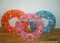 Plastic inflatable custom swim ring toys,colorful swim ring for kids
