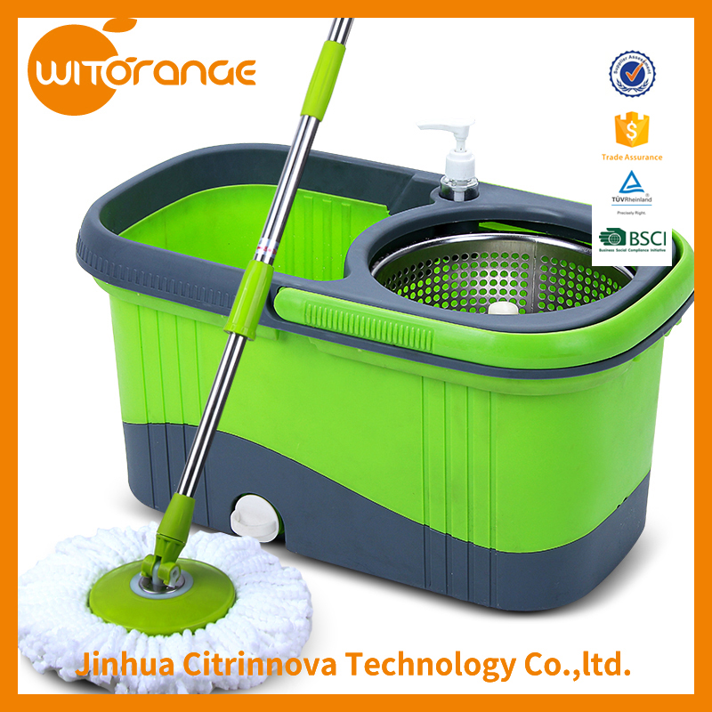 Witorange Microfiber Mop Head Material and Aluminum Pole Material new design household cleaning tool magic whirlwind mop