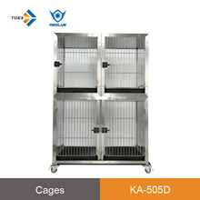KA-505D Wholesale cost effective duplex double dog kennel dog display cage with lock