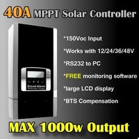 40A 1000w MPPT solar charge controller mppt solar regulator PC monitoring