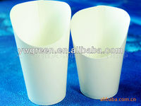 12/16OZ compostable french fry scoop paper cup, take away paper tortilla container